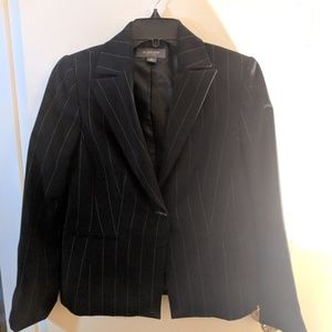 Liz Claiborne Suits Lined Pinstripe Jacket